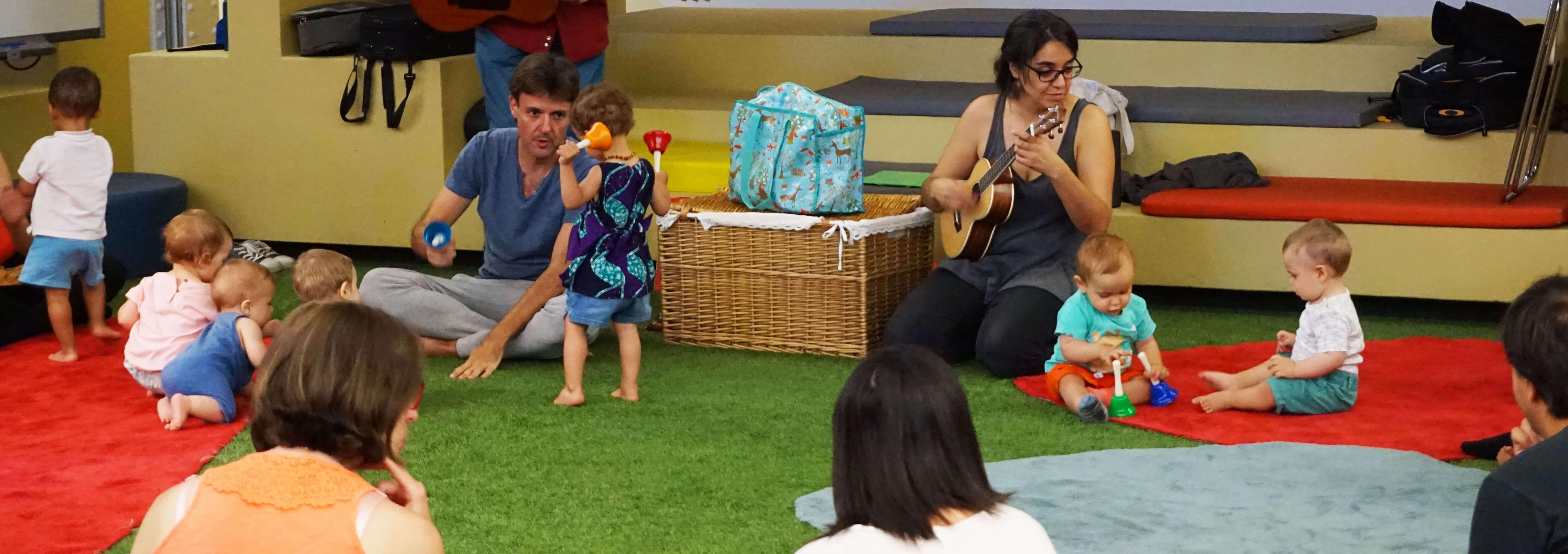 clases de música para bebés Casa del Lector